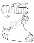 CC7730 Stocking Gift Tag