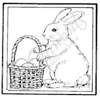 CC7932 Bunny And Easter Basket Square