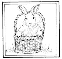 CC7937 Bunny In Basket Square