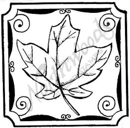 CC8188 Maple Leaf In Notched Square