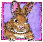 CC8459 Bunny In Deckle Square