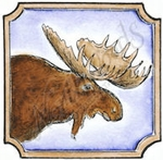 CC8535 Moose In Notched Square