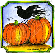 CC8704 Pumpkin And Crow In Notched Frame