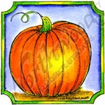 CC8706 Pumpkin In Notched Frame