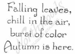 CC8729 Vintage Falling Leaves Chill In The Air
