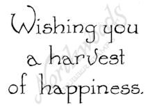 CC8735 Vintage Wishing You A Harvest Of Happiness