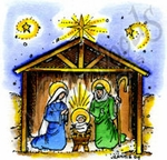CC8760 Jesus, Mary And Joseph In Stable
