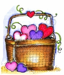 CC8947 Small Heart Basket