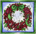 CC9243 Berry Wreath In Square