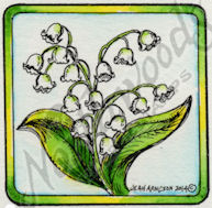 CC9496 Lily Of The Valley In Square