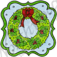 CC9680 Wreath In Notched Label
