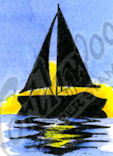 CC9794 Silhouette Sailboat