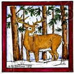 CC9909 Deer In Square