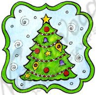 CC9678 Christmas Tree In Notched Label