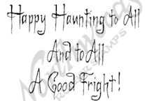 CC9592 Creepy Happy Haunting To All
