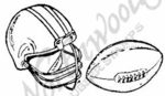 D1088 Football and Helmet