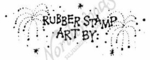 D2198 Dot Rubber Stamp Art With Fireworks