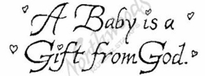 D2232 Calligraphy A Baby Is A Gift