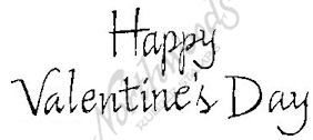 D2473 Calligraphy Happy Valentine's Day-2 Line