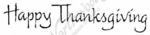 D2504 Calligraphy Happy Thanksgiving