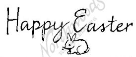 D2676 Calligraphy Happy Easter With Bunny