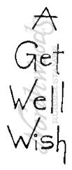 D4393 Tall Simple A Get Well Wish
