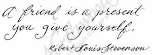 D4635 Cursive A Friend Is A Present