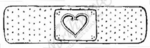 D6071 Band-aid With Heart