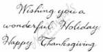D7116 Script Wishing You A Wonderful