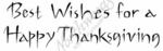 D7645 Sketch Best Wishes For A Happy Thanksgiving