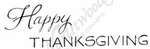 D8219 Mixed Font Happy Thanksgiving