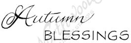 D8220 Mixed Font Autumn Blessings
