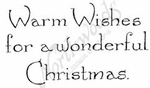D8357 Vintage Warm Wishes For Wonderful