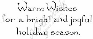 D8361 Vintage Warm Wishes For A Bright