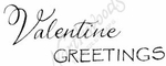 D8412 Mixed Font Valentine Greetings