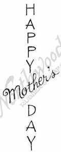 D8522 Vert. Mixed Font Happy Mother's Day