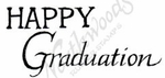 D8613 Grad Mixed Font Happy Graduation