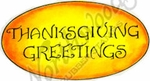 D8736 Vintage Thanksgiving Greetings In Oval
