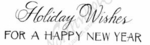 D8859 Mixed Font Holiday Wishes For A Happy New Year