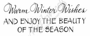 D8901 Mixed Font Warm Winter Wishes And Enjoy