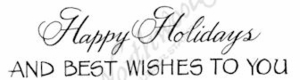 D8904 Mixed Font Happy Holidays And Best Wishes To You