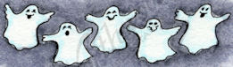 D9153 Row Of Happy Ghosts