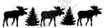 D9515 Solid Moose And Pine Border
