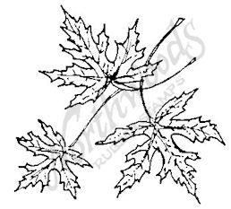 E3783 Open Silver Maple Leaf Cluster