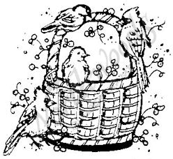 E3963 Basket With Birds