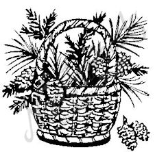 E3965 Basket With Pine