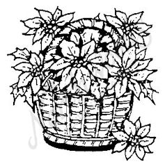 E3994 Basket Of Poinsettia