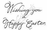 E4328 Script Wishing You A Happy Easter
