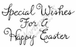 E4341 Curly Special Wishes For A Happy Easter
