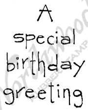E4374 Tall Simple Vertical A Special Birthday Greeting